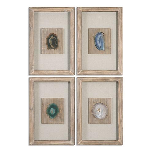 Set of 4 Agate Wall Hangings