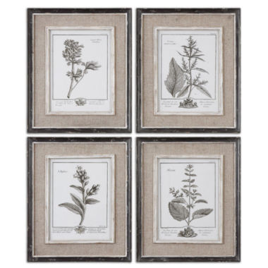 jcpenney.com | Set of 4 Framed Gray Study Art Pieces