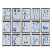 Set of 15 Framed Dried-Flower Wall Art Pieces