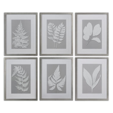 jcpenney.com | Set of 6 Moonlight Ferns Wall Art