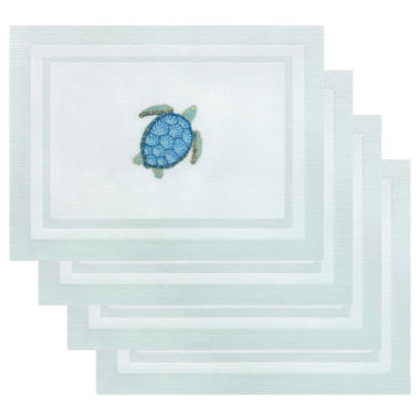 jcpenney.com | Arlee Set of 4 Sea Turtle Embroidered Placemats