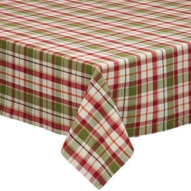 "jcpenney.com | Design Imports Pumpkin Plaid 52""x52"" Tablecloth"