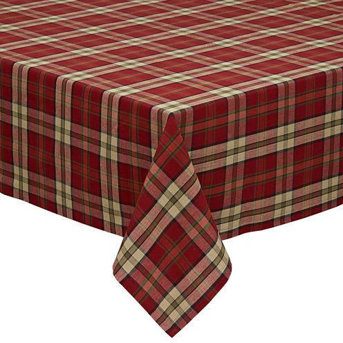 Design Imports Campfire Plaid Tablecloth
