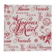 Design Imports Vintage Christmas Set of 6 Napkins