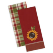Design Imports Country Sunflower Set of 4 Kitchen Towels