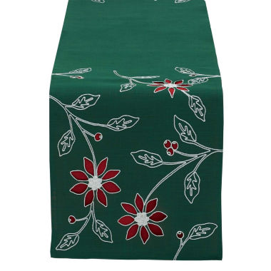jcpenney.com | Design Imports Embroidered Poinsettia Table Runner