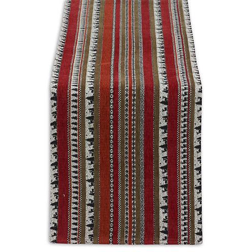 Design Imports Wilderness Stripe Table Runner
