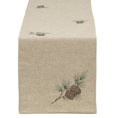 jcpenney.com | Design Imports Embroidered Pinecone Table Runner
