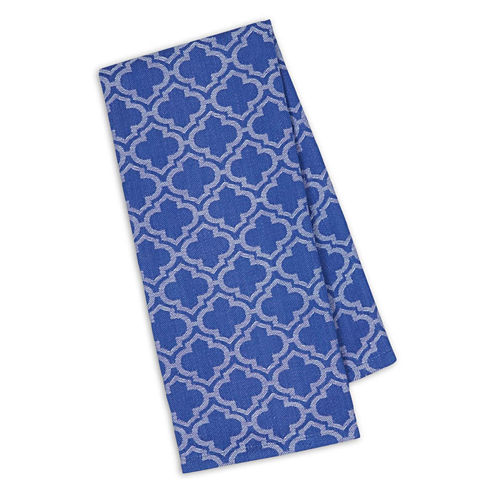 Design Imports Blueberry Lattice Jacquard Set of 4 Kitchen Towels