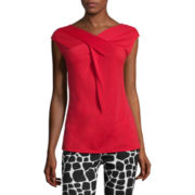 Liz Claiborne® Sleeveless Crisscross Top