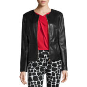 Liz Claiborne® Faux  Leather Jacket