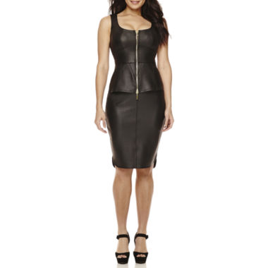 jcpenney.com | Bisou Bisou® Faux-Leather Zip-Up Bustier Top or High-Low Skirt