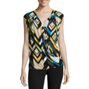 Worthington® Sleeveless Surplice Top