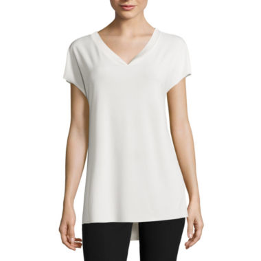 jcpenney.com | Worthington® Short-Sleeve High-Low-Hem Top