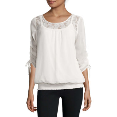jcpenney.com | Alyx® 3/4-Sleeve Smock-Bottom Top