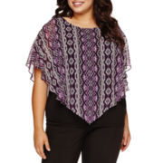 Alyx® Short-Dolman-Sleeve Popover Top - Plus