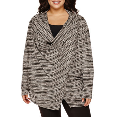 jcpenney.com | Alyx® Long-Sleeve Zipper-Shoulder Cardigan - Plus