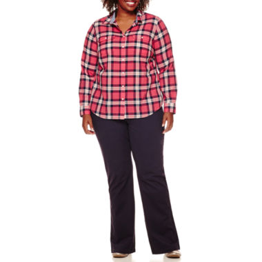 jcpenney.com | St. John's Bay® Long-Sleeve Camp Shirt or Straight-Leg Trousers - Plus