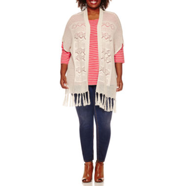 jcpenney.com | St. John's Bay® Crochet Cardigan, Striped Tee or Pull-On Jeggings