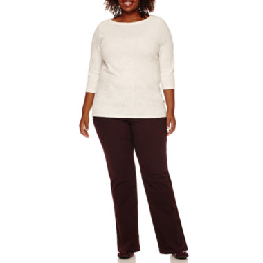 jcpenney.com | St. John's Bay® 3/4-Sleeve Tops or Trousers - Plus