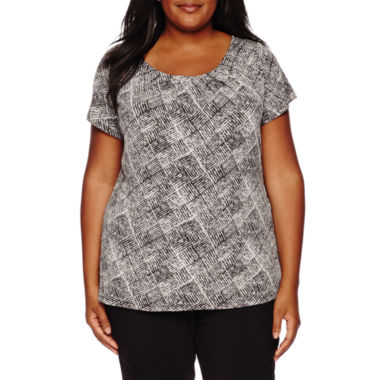 jcpenney.com | Worthington® Essential Short-Sleeve Tee - Plus