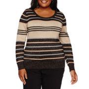 Worthington® Long-Sleeve Pullover Sweater - Plus