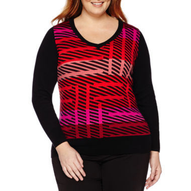 jcpenney.com | Worthington® Long-Sleeve Pullover Sweater - Plus