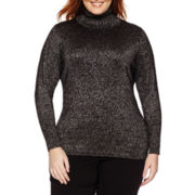 Worthington® Long-Sleeve Turtleneck Sweater - Plus