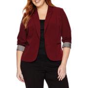 Worthington® Long-Sleeve Open-Front Blazer - Plus