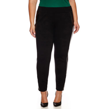 jcpenney.com | Worthington® Snap-Hem Ponte Pleather Leggings - Plus