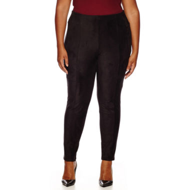 jcpenney.com | Worthington® Stretch Faux-Suede Leggings - Plus