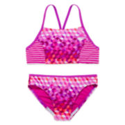 Speedo® Illusion Cube Bikini Swimsuit- Girls 7-16