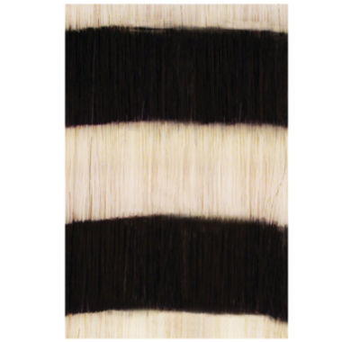 jcpenney.com | HairUware Clip-in Bright Stripes White/Black