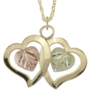 Black Hills Gold® Double-Heart Pendant Necklace