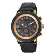 Drive from Citizen® Eco-Drive™ Womens Black & Rose-Tone Chronograph Watch AT2233-05E