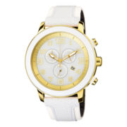 Drive from Citizen® Eco-Drive™ Womens White & Gold-Tone Chronograph Watch AT2232-08A