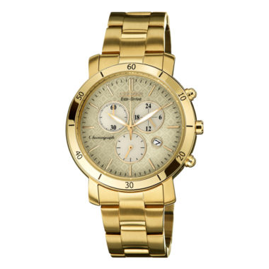 jcpenney.com | Drive from Citizen® Eco-Drive® Womens Gold-Tone Chronograph Watch FB1342-56P