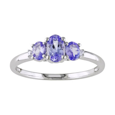 jcpenney.com | 10K White Gold Tanzanite 3-Stone Ring