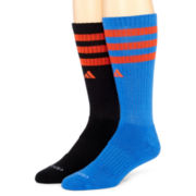 adidas® Mens 2-pk. Team Crew Socks