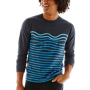 The Tourist by Burkman Bros. Wave-Striped Tee