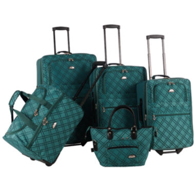 jcpenney.com | American Flyer Pemberly Buckles 5-pc. Luggage Set