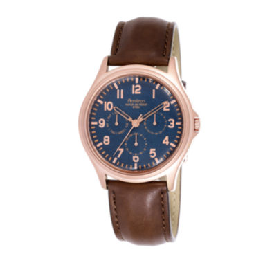 jcpenney.com | Armitron® All Sport® Mens Brown Leather Strap Chronograph Watch