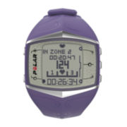 Polar® FT60F Womens Heart-Rate Monitor Chronograph Purple Strap Watch