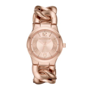 jcpenney.com | Liz Claiborne® Womens Rose-Tone Chain Bracelet Watch