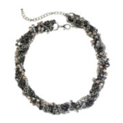 Mixit™ Silver-Tone Neutral Twisted Torsade Necklace