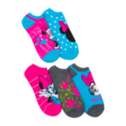 Disney 5-pk. Minnie Mouse No-Show Socks