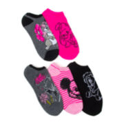 Disney 5-pk. Character No-Show Socks