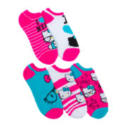 Hello Kitty® 5-pk. No-Show Socks