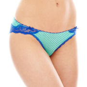 THE BODY Elle Macpherson Modal and Lace Bikini Panties