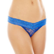 THE BODY Elle Macpherson Intimates Stretch Lace Thong Panties